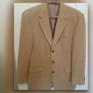 Joseph A. Bank 3-button Camel Hair Blazer